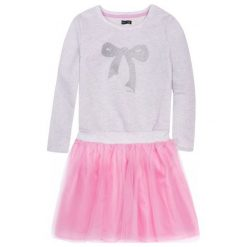 Sukienki dziewczęce: Sukienka z tiulowym dołem i brokatem dla dziewczynki 9-13 lat