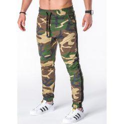 SPODNIE MĘSKIE JOGGERY P670 - MORO. Szare joggery męskie Ombre Clothing, moro. Za 75,00 zł.
