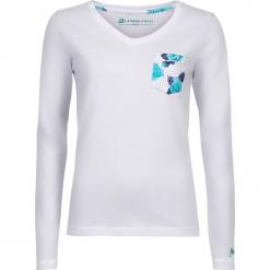"""Koszulka """"Dilila"""" w kolorze białym. Białe bluzki damskie Alpine Pro, xs, z bawełny, z długim rękawem. W wyprzedaży za 86,95 zł."""