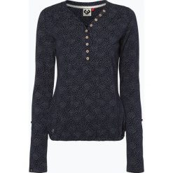 Odzież damska: Ragwear – Damska koszulka z długim rękawem, niebieski