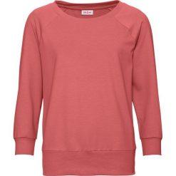 Bluza oversize, rękawy 3/4 bonprix rabarbarowy. Czerwone bluzy damskie bonprix. Za 54,99 zł.