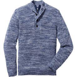 Sweter z plisą guzikową Regular Fit bonprix indygo wzorzysty. Niebieskie golfy męskie marki bonprix, l. Za 109,99 zł.