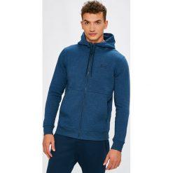 Under Armour - Bluza Threadborne FZ. Niebieskie bluzy męskie rozpinane Under Armour, l, z bawełny, z kapturem. W wyprzedaży za 229,90 zł.