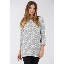Bluzy rozpinane damskie: Bluza z nieregularnym wzorem