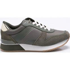 Tommy Hilfiger - Buty. Czarne buty sportowe damskie marki TOMMY HILFIGER, z materiału, z okrągłym noskiem, na obcasie. W wyprzedaży za 319,90 zł.