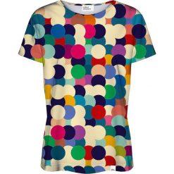 Colour Pleasure Koszulka damska CP-030 17 beżowo-niebieska r. XS/S. Brązowe bluzki damskie marki Colour pleasure, s. Za 70,35 zł.