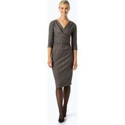 Weekend MaxMara - Sukienka damska, brązowy. Brązowe sukienki z falbanami WEEKEND MaxMara, xl, w kratkę, z kopertowym dekoltem, kopertowe. Za 899,95 zł.