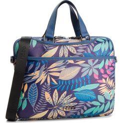 Torba na laptopa NOBO - NBAG-F1590-CM13 Granatowy Z Multi Kwiatami. Niebieskie torby na laptopa marki Nobo, ze skóry ekologicznej. W wyprzedaży za 149,00 zł.