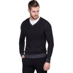 Sweter MANUELE SWSS000146. Białe swetry klasyczne męskie marki Giacomo Conti, na jesień, m, z wełny. Za 399,00 zł.
