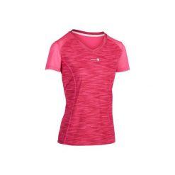 T-Shirt tenisowy Soft 500 damski. Czerwone t-shirty damskie ARTENGO, melanż, z meshu. W wyprzedaży za 24,99 zł.