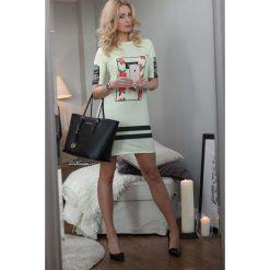 Sukienki: Sukienka z nadrukiem cytrynowa