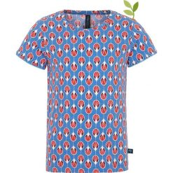 Bluzki dziewczęce bawełniane: Koszulka w kolorze błękitno-czerwonym