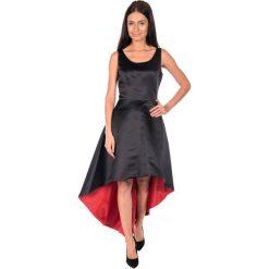 Sukienki: Asymetryczna czarna sukienka BIALCON
