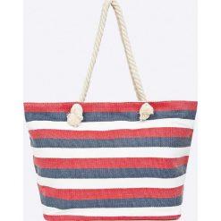 Answear - Torebka Stripes Vibes. Szare torebki klasyczne damskie marki ANSWEAR, z materiału, duże. W wyprzedaży za 39,90 zł.