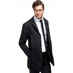 Płaszcz MICHELE PSCS000068. Czarne płaszcze na zamek męskie Giacomo Conti, m, z bawełny. Za 699,00 zł.