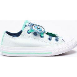 Converse - Tenisówki dziecięce. Szare buty sportowe dziewczęce Converse, z materiału, na sznurówki. W wyprzedaży za 139,90 zł.