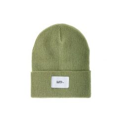 Czapka Beanie Olive (White). Zielone czapki zimowe damskie Harp Team, z dzianiny, klasyczne. Za 49,00 zł.