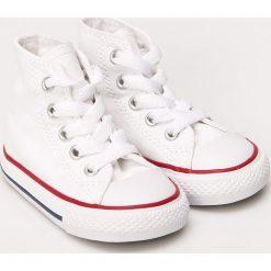 Converse - Trampki dziecięce. Szare buty sportowe dziewczęce Converse, z materiału. W wyprzedaży za 149,90 zł.