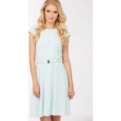 Sukienki: Pastelowa sukienka w groszki