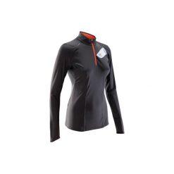 Koszulka do biegania długi rękaw TRAIL damska. Szare t-shirty damskie KALENJI, xs, z elastanu. Za 69,99 zł.