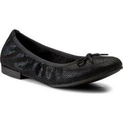 Baleriny TAMARIS - 1-22116-29 Black Struct. 006. Czarne baleriny damskie zamszowe marki Tamaris. W wyprzedaży za 169,00 zł.