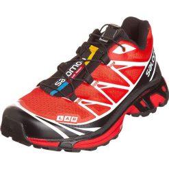 """Buty """"S-Lab XT 6"""" w kolorze czarno-czerwono-białym do biegania. Czarne buty do biegania męskie marki Salomon, z materiału. W wyprzedaży za 464,95 zł."""