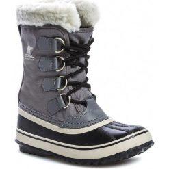 Śniegowce SOREL - Winter Carnival NL1495 Pewter/Black 035. Czarne buty zimowe damskie Sorel, z gumy. W wyprzedaży za 369,00 zł.