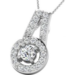 Naszyjniki damskie: Złoty naszyjnik z diamentami – dł. 40 cm