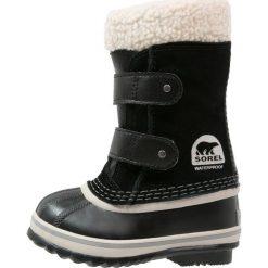 Sorel PAC Śniegowce black. Czarne buty zimowe chłopięce Sorel, z materiału. W wyprzedaży za 223,30 zł.