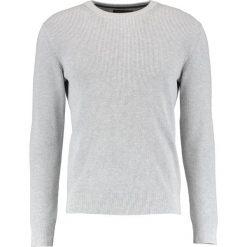 Swetry klasyczne męskie: Banana Republic SUPIMA CREW NECK Sweter light grey