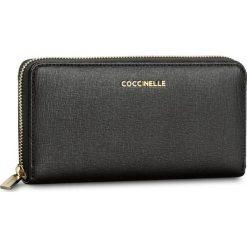 Duży Portfel Damski COCCINELLE - BW1 Metallic Saffiano E2 BW1 11 04 01 Noir 001. Czarne portfele damskie marki Coccinelle. W wyprzedaży za 419,00 zł.
