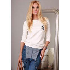 Bluzy damskie: Bluza kremowa 9816