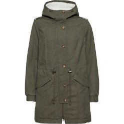 Płaszcze damskie: Płaszcz z podszewką barankiem bonprix ciemnooliwkowy