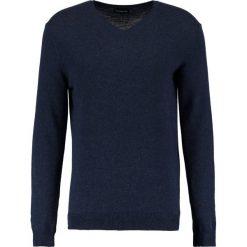 Swetry klasyczne męskie: Sisley Sweter navy melange