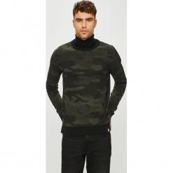Jack & Jones - Sweter. Czarne swetry klasyczne męskie Jack & Jones, l, z bawełny, z okrągłym kołnierzem. Za 169,90 zł.