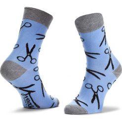 Skarpety Wysokie Męskie FREAK FEET - LNOZ-BLG Niebieski. Niebieskie skarpetki męskie marki Freak Feet, w kolorowe wzory, z bawełny. Za 19,99 zł.