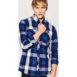 Koszula w kratę - Granatowy. Niebieskie koszule męskie House, l. Za 39,99 zł.