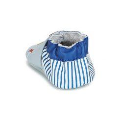 Kapcie niemowlęce Dziecko  Robeez  KITES. Niebieskie kapcie chłopięce marki Robeez. Za 97,30 zł.