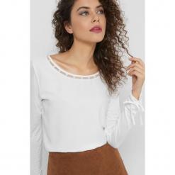 Koszulka z perłami. Brązowe t-shirty damskie Orsay, s, z dzianiny. Za 69,99 zł.
