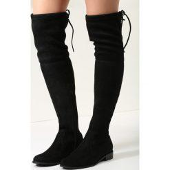 Czarne Zamszowe Kozaki Sorry Not Sorry. Czarne buty zimowe damskie vices, z materiału, z okrągłym noskiem, na obcasie. Za 169,99 zł.
