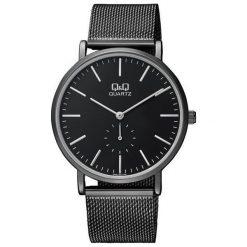 Zegarek Q&Q Unisex QA96-402 Fasion Mesh czarny. Czarne zegarki męskie Q&Q. Za 185,18 zł.