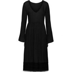 Sukienki hiszpanki: Sukienka midi z koronką bonprix czarny