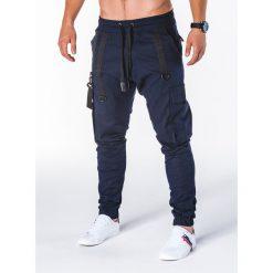 Spodnie męskie: SPODNIE MĘSKIE JOGGERY P716 – GRANATOWE