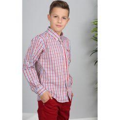 Czerwona Koszula w Kratę NDZ3804. Czerwone koszule chłopięce Fasardi. Za 69,00 zł.
