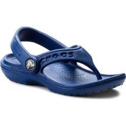 Japonki CROCS - Baya Flip Kids 12066 Cerulean Blue. Niebieskie klapki chłopięce Crocs, z tworzywa sztucznego. Za 89,00 zł.