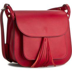 Torebka CREOLE - K10197 Czarwony/Czarny. Czerwone listonoszki damskie Creole, ze skóry. W wyprzedaży za 179,00 zł.