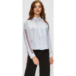 Tommy Jeans - Koszula. Szare koszule jeansowe damskie Tommy Jeans, l, w paski, casualowe, z klasycznym kołnierzykiem, z długim rękawem. Za 359,90 zł.