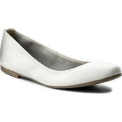 Baleriny damskie: Baleriny TAMARIS - 1-22128-20 White Leather 117