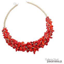Naszyjniki damskie: Czerwony sznur korali - naszyjnik