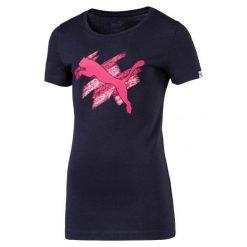Bluzki sportowe damskie: Puma Koszulka Su Style Tee G Peacoat 140